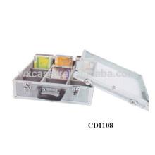 Caso de DVD CD 60 discos (10mm) alumínio vendas por atacado de China fabricante