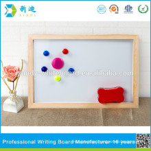 kids small magnetic stand whiteboard with wooden frame