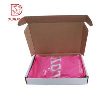 Tipos diferentes personalizado impresso popular ondulado atacado caixa de roupas de embalagem
