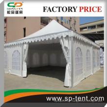 2015 vente en gros de gros porte en aluminium chêne en Chine pagode tente 8x8m avec doublure blanche