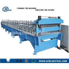 Machine de fabrication de panneaux de toiture en aluminium glacé en aluminium à double couche automatique complète à vendre