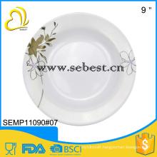 9inches melamine pasta plates with custom designs printing