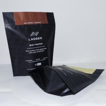 zipper stand up aluminum foil packaging bag