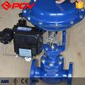 valve pneumatique à manchon de régulation à bride de haute qualité