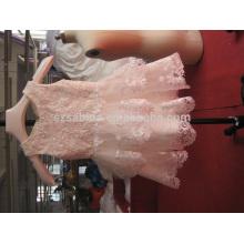 2017 elegantes apliques de renda vestido de tulle flor menina com fotos reais