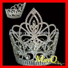 Beleza Redonda diamante princesa coroa para meninas