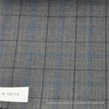 Крупная клетка шерсть-полиэфирной ткани костюм ткани костюм ткани шерсть