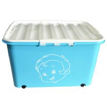 Boîte à conteneurs en plastique à conception créative avec roues (SLSN045)