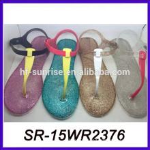 hotselling pvc jelly lady sandal 2015 model sandal brazilian sandal