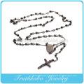 Croix Noir Croix Marie Vierge Marie Christian 4mm Chapelet Perles Bijoux