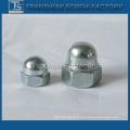 Écrou de chapeau de tête de dôme hexagonale en acier galvanisé (DIN1587)