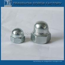 Hutmutter aus verzinktem Stahl (DIN1587)