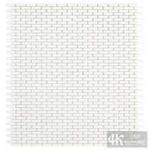 Clear White Glass Mosaic Tiles for Wall Decor