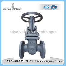 GOST fundição de aço PN16 válvula de porta flangeada