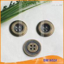 Bouton en alliage de zinc et bouton en métal et bouton de couture métallique BM1652