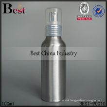 100ml silver mist spray aluminum bottle for sale, cosmetic aluminum bottle, cosmetic packaging container bottles