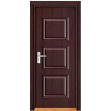 Nueva garantía de certificación de puerta de madera PVC Qualitied