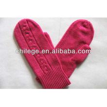 Mesdames Cachemire tricoté un doigt mitaines de gants