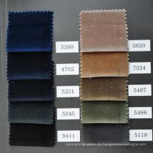 Samt Baumwolle und Veloursstoff für Kleidungsstücke auf Lager