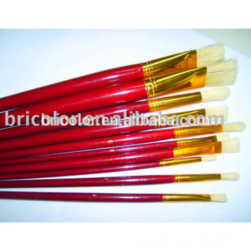 Short Wooden Handle Artist Brush Set