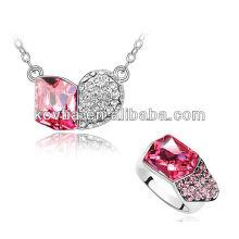 Ensemble bijoux uniques en cristal rouge dubai de personnalité