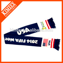 Jacquard Knitted Football Fans Scarf With Your Logo