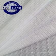 Maille 100 polyester en polyester alvéolé absorbant la transpiration pour la chemise de sport