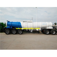 17m3 19ton H2SO4 Delivery Tanker Trailers