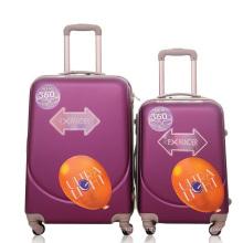Valise en plastique de bagage de chariot à voyage d'ABS de cas dur