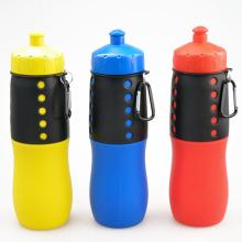 2016 Nova garrafa de água de silicone dobrável, garrafa de água desportiva desportiva