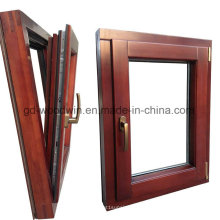 Solid Wooden Window with Low-E Glass/Tinted Glass/Coating Glass