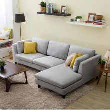 Fabric 3-Piece Reclining Sofa Sectional dengan Chaise