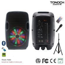Professional 8 Inches Portable Active Speaker with Program RGB Light