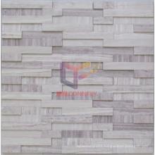 Irregular High and Low Mixed Marble Stone Mosaic (CFS988)
