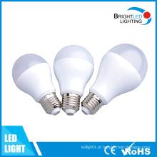 Garantia de 5 anos 3W a 12W E27 Luz de bulbo do diodo emissor de luz
