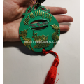 Custom 2020 Creative Two Colors Plating Zink Medal
