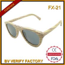 FX-21 100 % natürliche Großhandel handgemachte hölzerne Sonnenbrillen