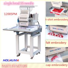 HOLIAUMA Закрытый для TAJIMA одноголовочный высокоскоростной компьютер с вышивальной машиной с 15 цветами