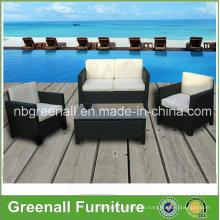 Nuevos muebles de mimbre de la rota 4PCS para el invernadero al aire libre