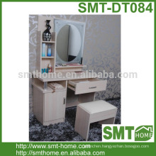 Modern Cheap High Quality MDF Vanity Dresser With Mirror And Shelf
