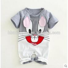 2017 Новый Дизайн Детская Одежда Ползунки Органический Хлопок Romper Младенца Лета
