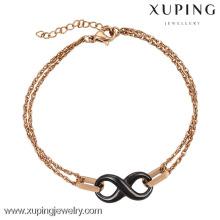 74416-xuping fashion 18k gold steel bracelet designs for girls