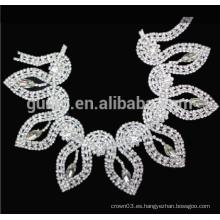 Piedra clara cadena de la cadena de rhinestone ajuste de la cadena de hombro de cristal