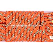 Corda trançada de poliéster colorido