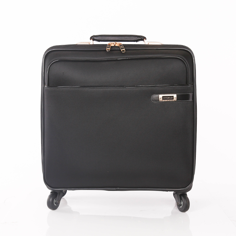 resistant PU leather luggage bags