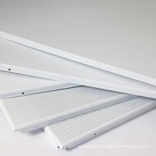 600*600 perforated metal aluminum clip in ceiling panel aluminum ceiling tiles