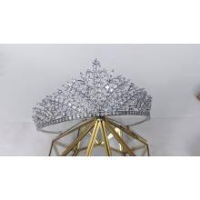 New Elegant Fashionable High Level Zircon Cubic Zirconia Princess Crown aaaCrystal Leaves  Wedding Bridal Tiara and Crowns