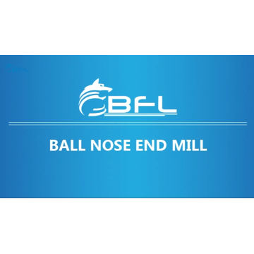 BFL carburo Ballnose Endmill, CNC carburo punta de la nariz molino para metal