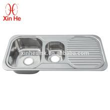 Нержавеющая сталь 304 Кухонная раковина с крылом Topmounted Коммерческая доска