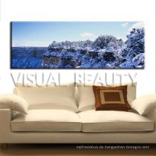 Schnee bedeckte natürliche Landschaft-Segeltuch-Malerei-Wand-Kunst-Ausgangsdekoration